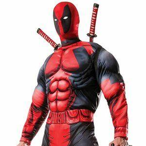Rubies Costume Men's Marvel Universe Classic Muscle Chest Deadpool Costume Std